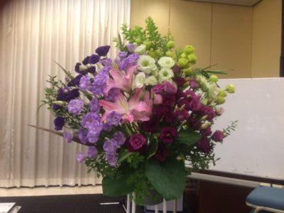 発表会の舞台の花