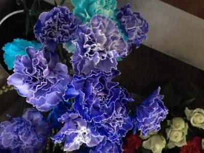 染めの花のデザイン