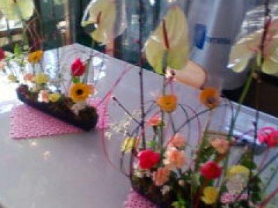 桃の花フラワーデザイン